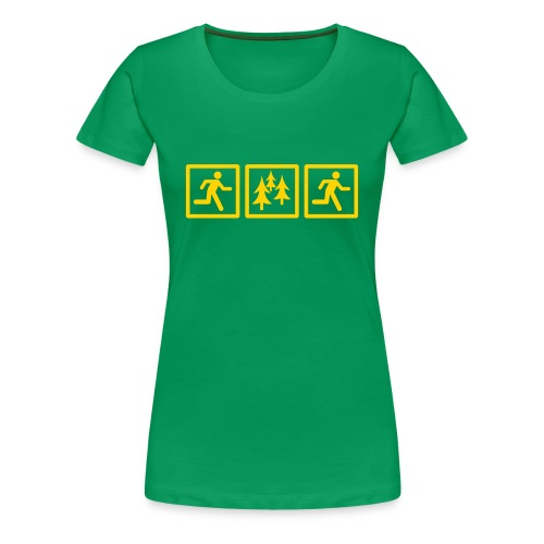 WOMENS RUNNING T SHIRT - RUN FOREST RUN - Women's Premium T-Shirt