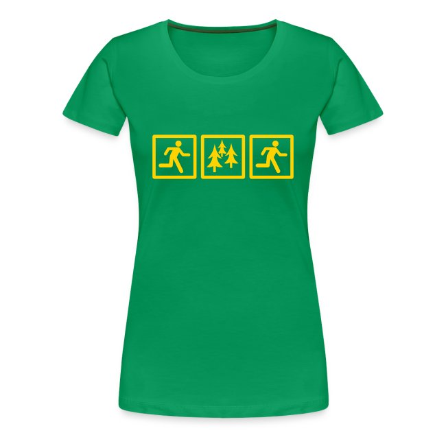 WOMENS RUNNING T SHIRT - RUN FOREST RUN