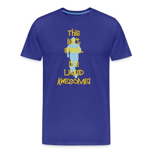 MENS RUNNING T SHIRT - LIQUID AWESOME - Men's Premium T-Shirt