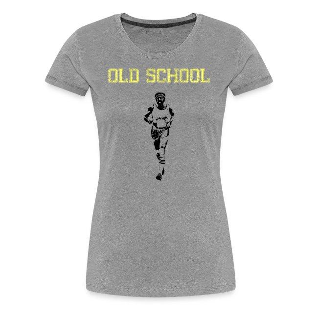WOMENS RUNNING T SHIRT - OLD SCHOOL
