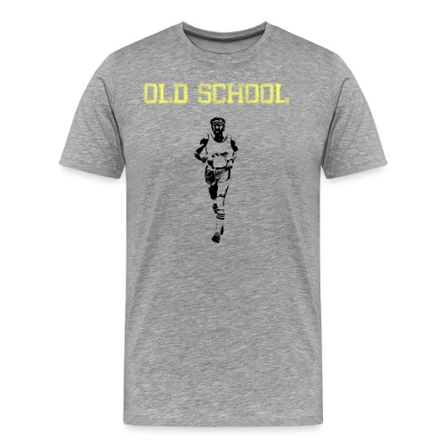 MENS RUNNING T SHIRT - OLD SCHOOL - Men's Premium T-Shirt