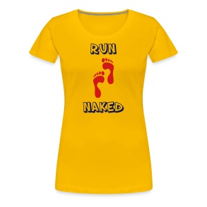 WOMENS RUNNING T SHIRT - RUN NAKED - Women's Premium T-Shirt