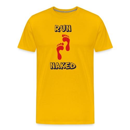 MENS RUNNING T SHIRT - RUN NAKED - Men's Premium T-Shirt