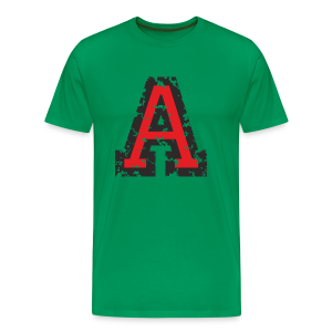 Letter A T-Shirt (Men) Black/Red - Men's Premium T-Shirt
