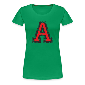 Letter A T-Shirt (Women) Black/Red - Women's Premium T-Shirt