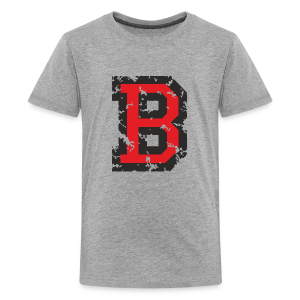 Letter B T-Shirt (Kids) Black/Red - Kids' Premium T-Shirt