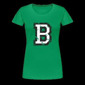 Letter B T-Shirt (Women) Black/White - Women's Premium T-Shirt