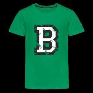 Letter B (Used Look) Black/White