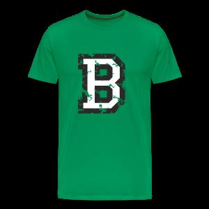 Letter B T-Shirt (Men) Black/White - Men's Premium T-Shirt