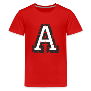 Letter A (Used Look) Black/White