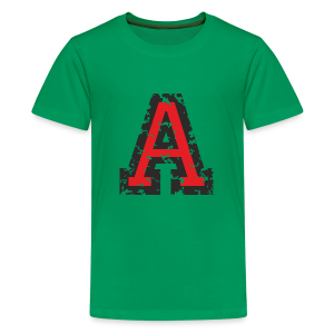 Letter A T-Shirt (Kids) Black/Red - Kids' Premium T-Shirt