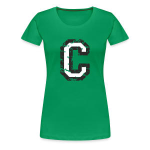 Letter C T-Shirt (Women) Black/White - Women's Premium T-Shirt