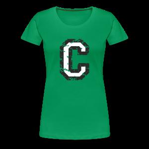 Letter C T-Shirt (Women) Black/White - Women's Premium T-Shirt