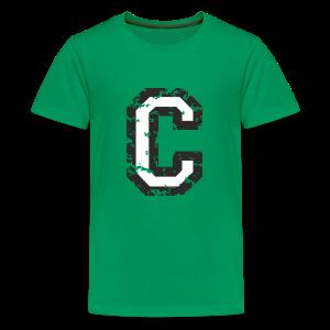 Letter C T-Shirt (Kids) Black/White - Kids' Premium T-Shirt