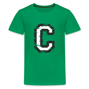Letter C T-Shirt (Kids) Black/White - Kids' Premium T-Shirt
