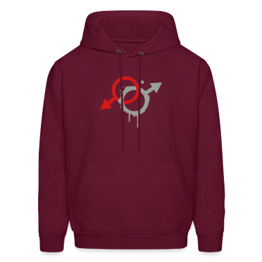 two male symbols Hoodies