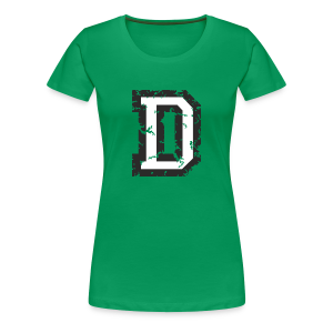 Letter D T-Shirt (Women) Black/White - Women's Premium T-Shirt