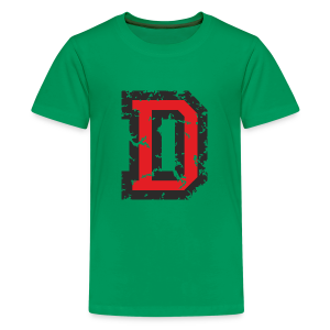 Letter D T-Shirt (Kids) Black/Red - Kids' Premium T-Shirt