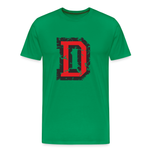 Letter D T-Shirt (Men) Black/Red - Men's Premium T-Shirt
