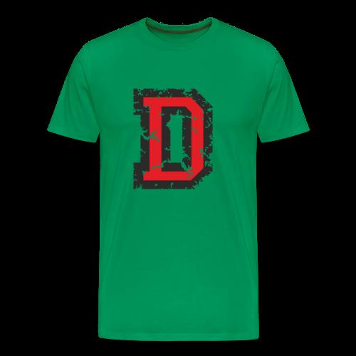 Letter D T-Shirt (Men) Black/Red - Men's Premium T-Shirt