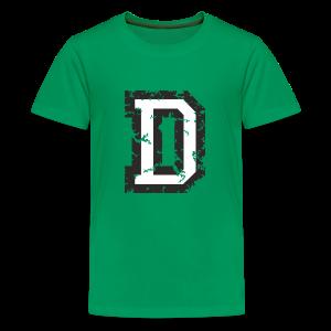 Letter D T-Shirt (Kids) Black/White - Kids' Premium T-Shirt