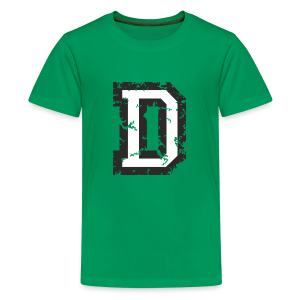 Letter D T-Shirt (Kids) Black/White - Kids' Premium T-Shirt