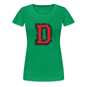Letter D T-Shirt (Women) Black/Red - Women's Premium T-Shirt