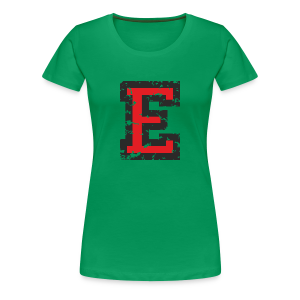 Letter E T-Shirt (Women) Black/Red - Women's Premium T-Shirt