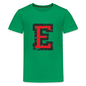 Letter E T-Shirt (Kids) Black/Red - Kids' Premium T-Shirt