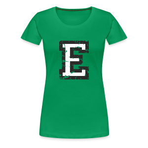 Letter E T-Shirt (Women) Black/White - Women's Premium T-Shirt