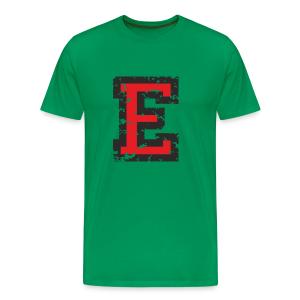 Letter E T-Shirt (Men) Black/Red - Men's Premium T-Shirt