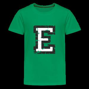 Letter E T-Shirt (Kids) Black/White - Kids' Premium T-Shirt