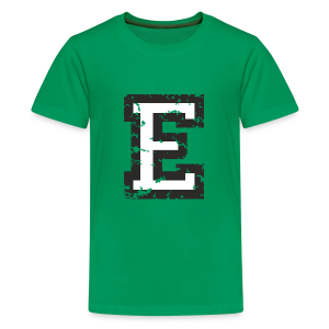 Letter E T-Shirt (Kids) Black/White - Kids' Premium T-Shirt