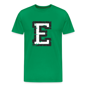 Letter E T-Shirt (Men) Black/White - Men's Premium T-Shirt