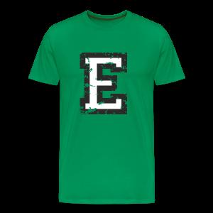 Letter E T-Shirt (Men) Black/White - Men's Premium T-Shirt