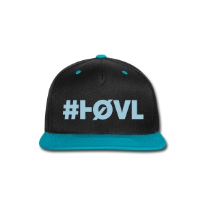 HØVL SNAP-BACK BLACK-LIGHT BLUE - Snap-back Baseball Cap
