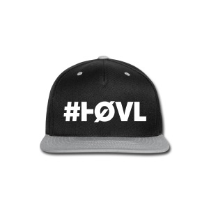 HØVL SNAP-BACK BLACK-SILVER - Snap-back Baseball Cap