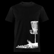 T-Shirts ~ Men's T-Shirt ~ Snow Disc Golf Shirt - White Print - Standard Weight Shirt