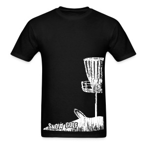 Snow Disc Golf Shirt - White Print - Standard Weight Shirt - Men's T-Shirt