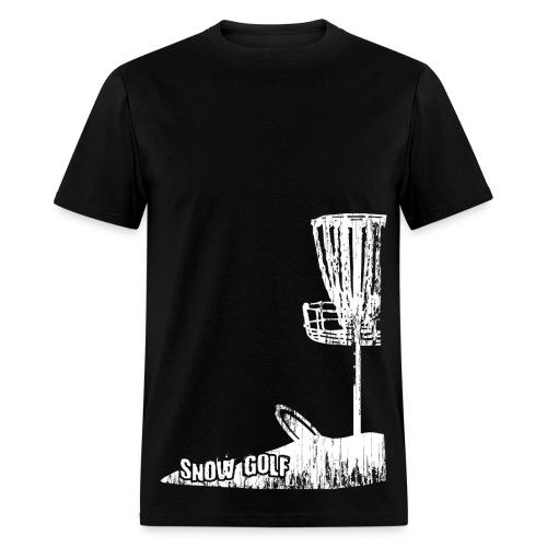 Snow Disc Golf Shirt - White Print - Standard Weight Shirt - Men's T-Shirt
