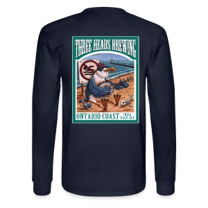 Ontario Coast - White Logo - Men's Long Sleeve T-Shirt