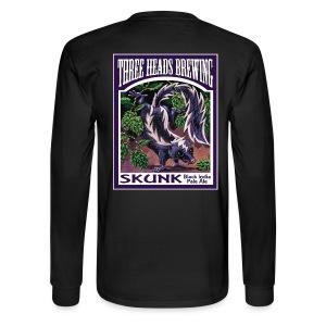 Skunk - White Logo - Men's Long Sleeve T-Shirt