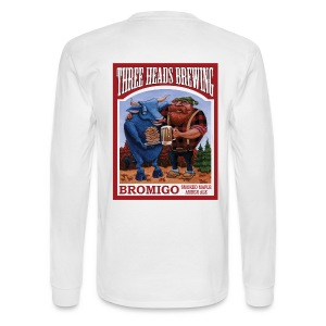 Bromigo - White Logo - Men's Long Sleeve T-Shirt
