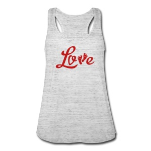 Red GLITTER  Valentine (non Maternity) - Women's Flowy Tank Top by Bella