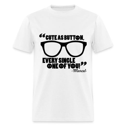 Cute as a button White - Men's T-Shirt