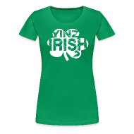 T-Shirts ~ Women's Premium T-Shirt ~ Yinz Irish? Cutout - Women's T-shirt