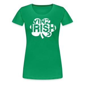 Yinz Irish? Cutout - Women's T-shirt - Women's Premium T-Shirt
