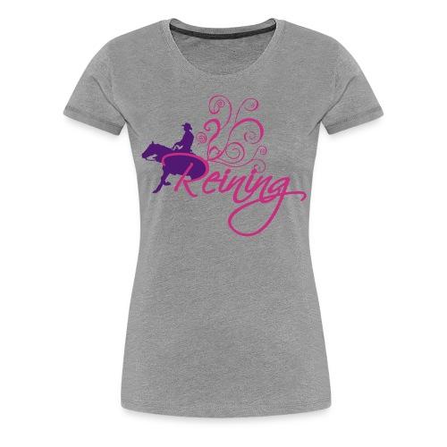 Reining - Women's Premium T-Shirt