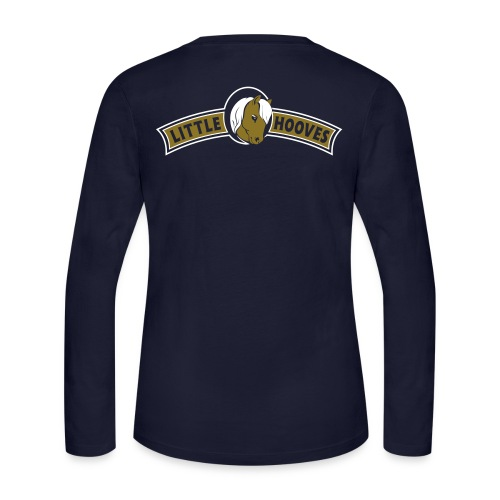Gold Little Hooves Back LS - Women's Long Sleeve Jersey T-Shirt