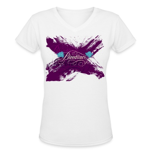 Bloodlines - Women's V-Neck T-Shirt